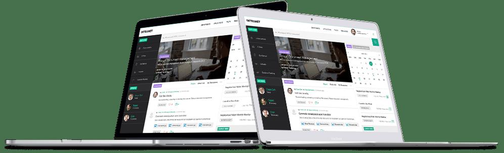 Saketa SharePoint Intranet - Digital Workplace with widgets, social media and SharePoint add-ins